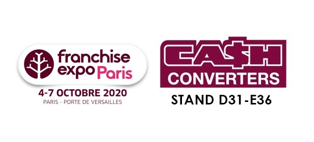 CASH CONVERTERS SERA PRÉSENT AU SALON FRANCHISE EXPO PARIS 2020